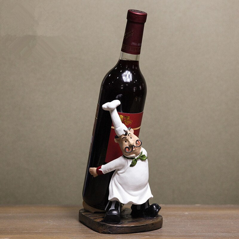 Mustache Chef Wine Holder