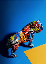 Load image into Gallery viewer, Painted Graffiti Dog Statue