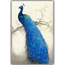 Load image into Gallery viewer, Retro Blue Peacock