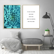 Load image into Gallery viewer, Life Quote Flower Sea Landscape