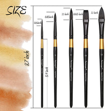 Load image into Gallery viewer, Squirrel Hair Watercolor Paint Brushes Set