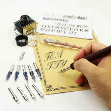 Load image into Gallery viewer, Wooden Calligraphy Dip Pen Set