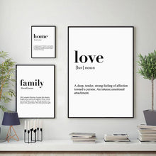 Load image into Gallery viewer, Minimalist Home Love Family
