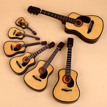 Load image into Gallery viewer, Mini Guitar Wooden Miniature