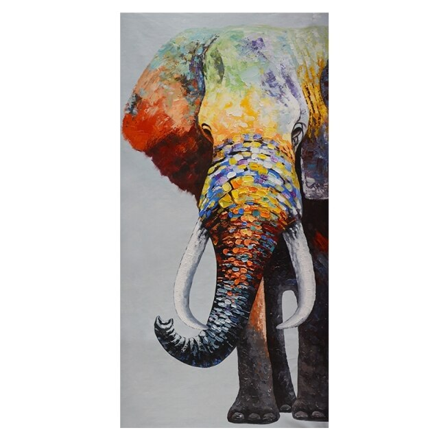 African Colorful Elephant