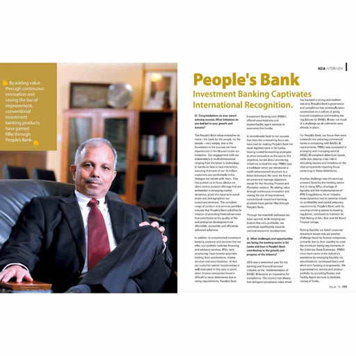 Interview (Coverage in Global Banking & Finance Review Digital Magazine)