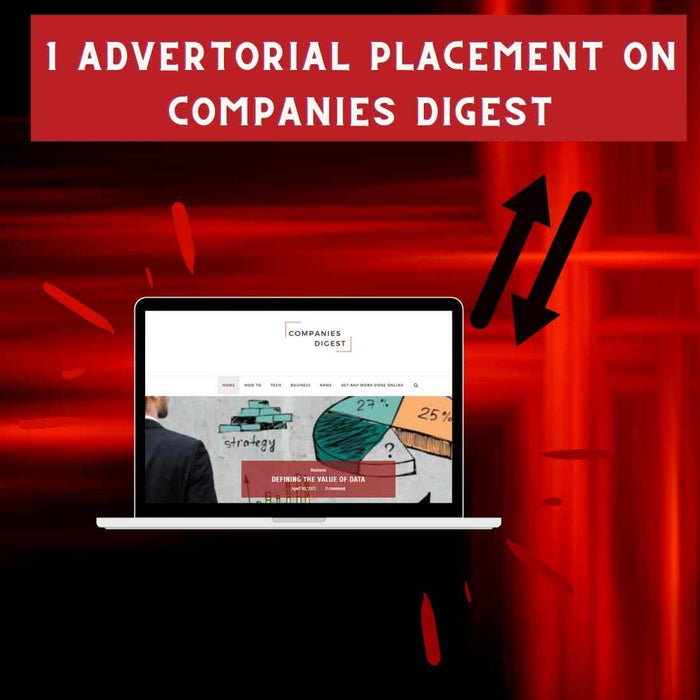1 Advertorial Placement On Companies Digest