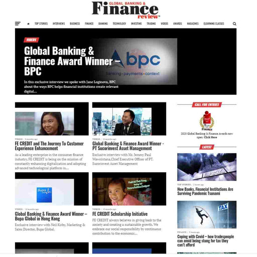 1 Advertorial Placement on globalbankingandfinance.com (Home page for 5 days)