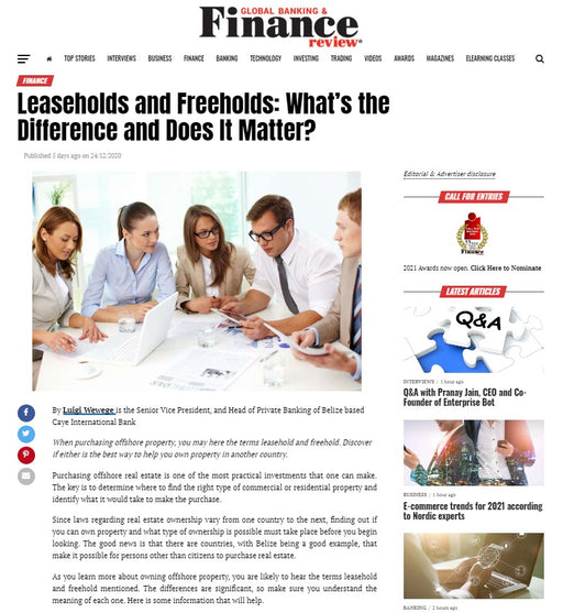 10 Advertorial Placements On Global Banking And Finance Review - globalbankingandfinance.com