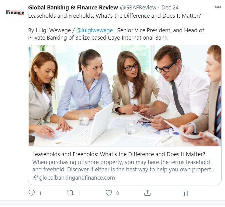 1 Advertorial Placement On Global Banking And Finance Review - globalbankingandfinance.com
