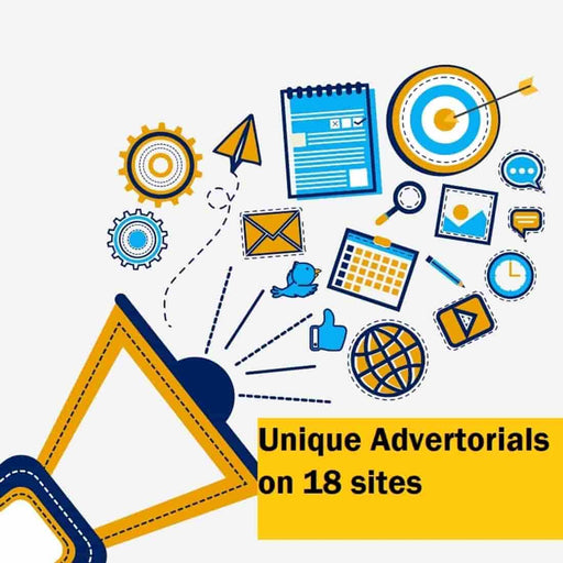 Unique Advertorials on 18 sites, Dedicated eMail blast, eMail newsletter insertion and Promotion on Social Media