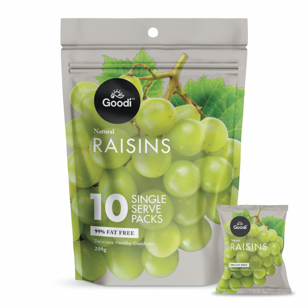 Goodi Dried Raisins 10x20g
