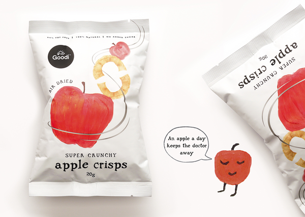 Goodi Apple Crisps (Box) 5x20g