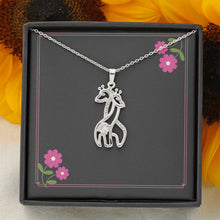 Load image into Gallery viewer, Graceful Love Giraffe Necklace