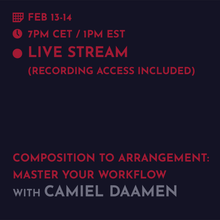 Load image into Gallery viewer, Recording - Camiel Daamen: From Composition to Arrangement, Master Your Workflow