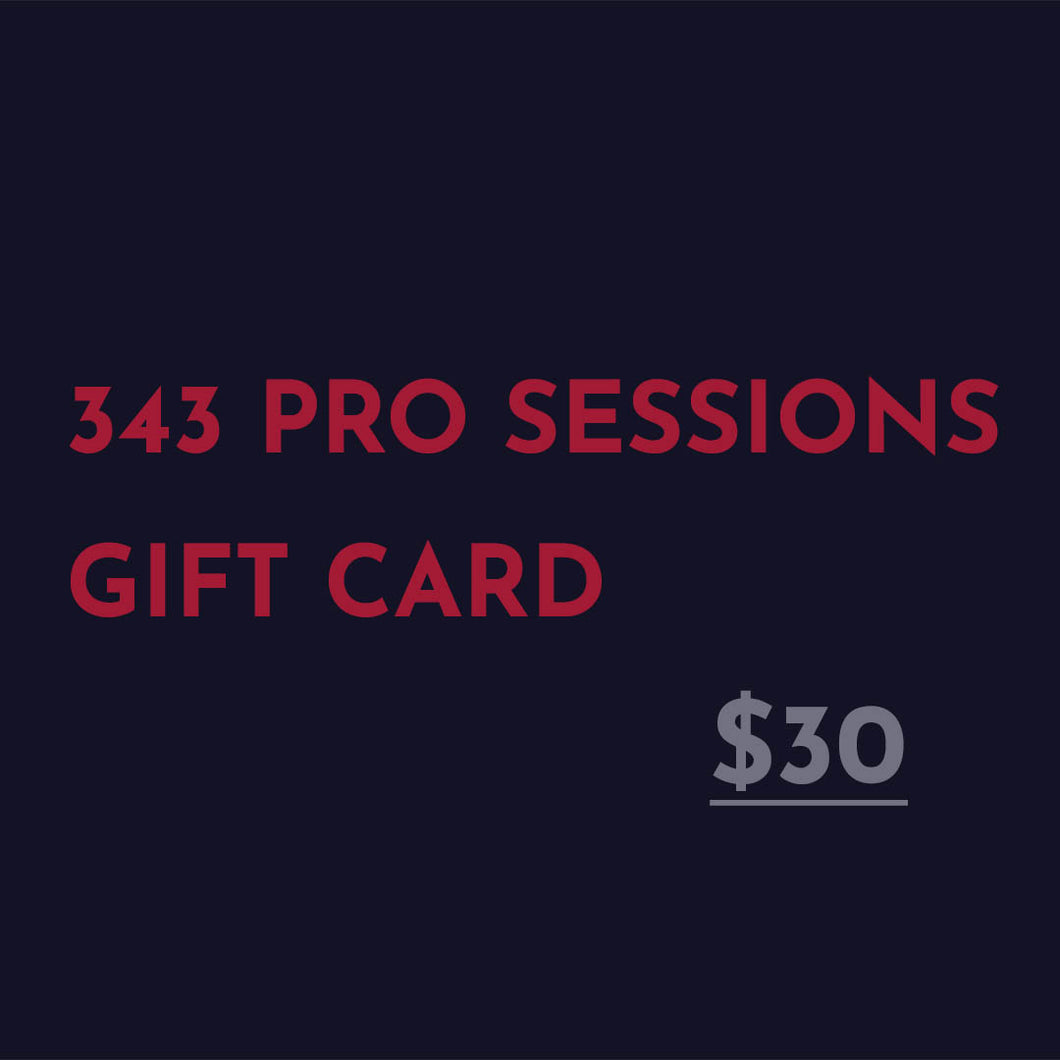 343 Pro Sessions Gift Card