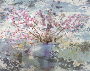 Fading Flowers in Blue Vase