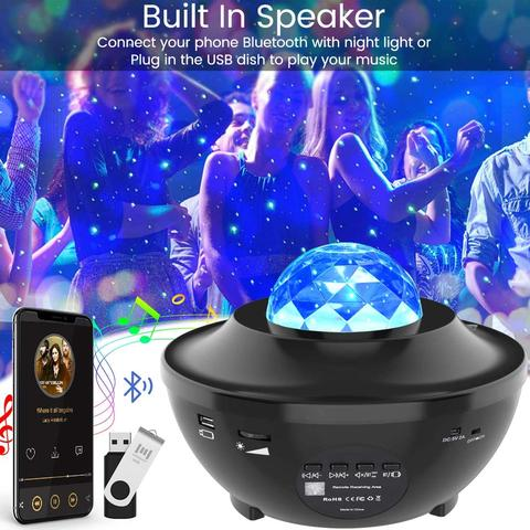 Galaxy projector with music speaker