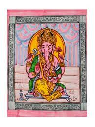 Basil bush God Ganesha  Double bed cover.