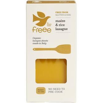 Free by Doves Farm Gluten Free Organic Maize & Rice Lasagne 250g