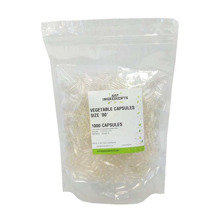 Vegetable capsules. 1000. 2 sizes.