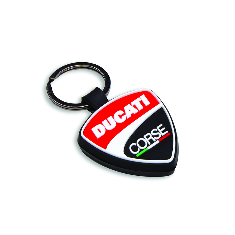 Ducati  Corse Shield - Rubber Key Ring(Pack of 2)