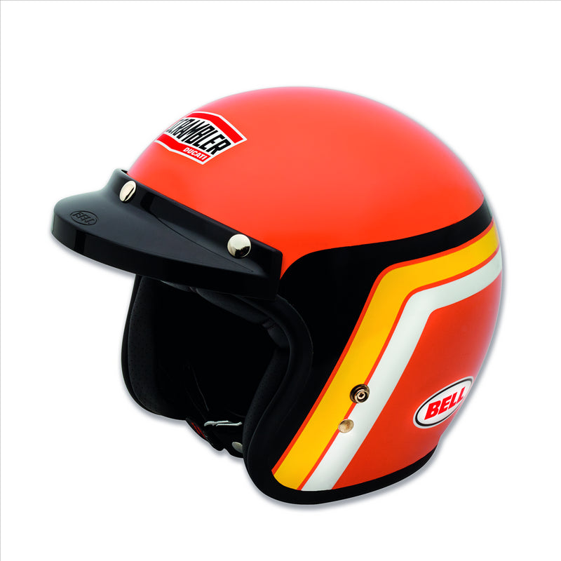 Ducati Orange Track Open Face Helmet