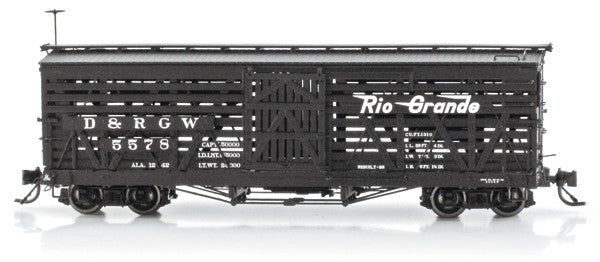 Blackstone B340226W, Weathered D&RGW 5500 Series 30 Ft.Stock Cars #5510