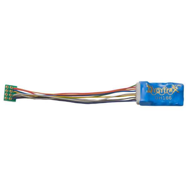 "Digitrax DH166P 1.5 Amp Premium HO Scale Decoder with Digitrax Easy Connect 9 Pin to DCC Medium Plug 3.0"" harness"