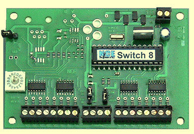 NCE - 152: Button Board For Use w/Switch8-MK2 Switch Machine Decoder NCE-151