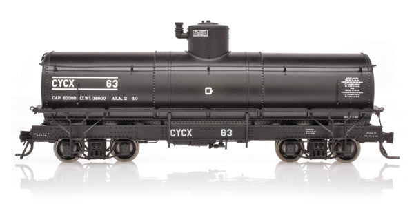 Blackstone B340610W, Weathered Narrow Frame Tank Cars #63