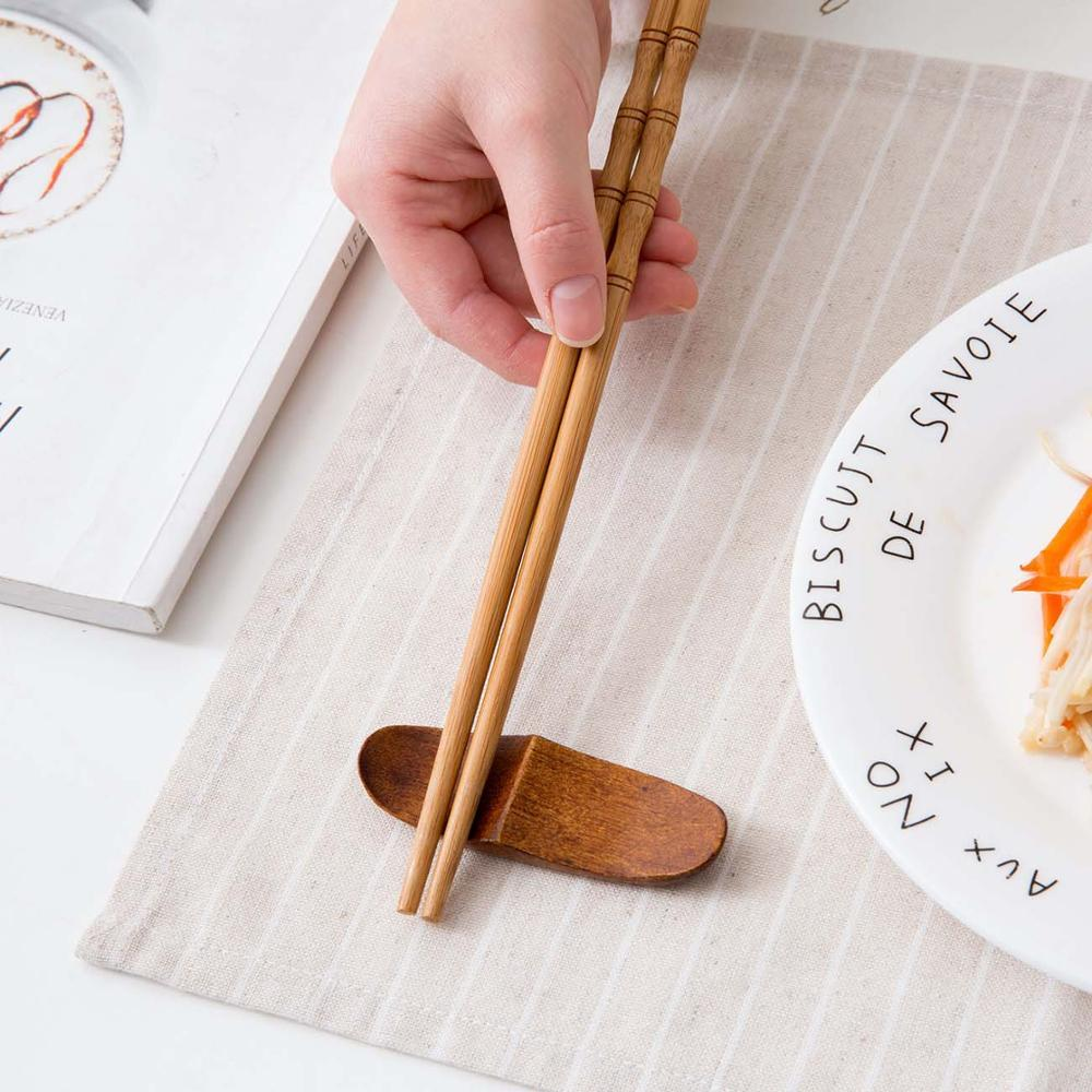 Wood Chopstick with Spoon Holder