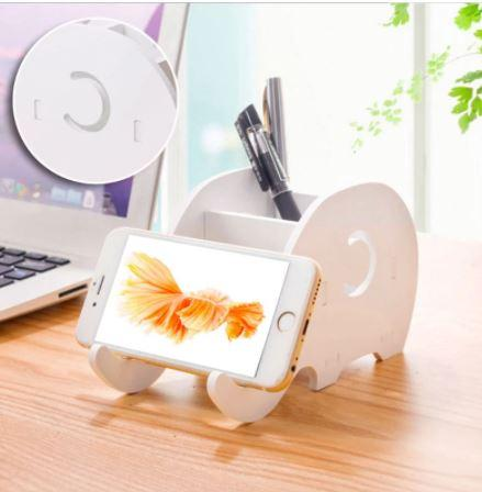 White Elephant Mobile and Pencil Holder ゾウホルダー