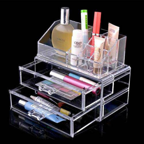 Cosmetic 4 Drawer Clear Acrylic Box Organizer Storage Jewellery Makeup Holder - Chaba Online Store
