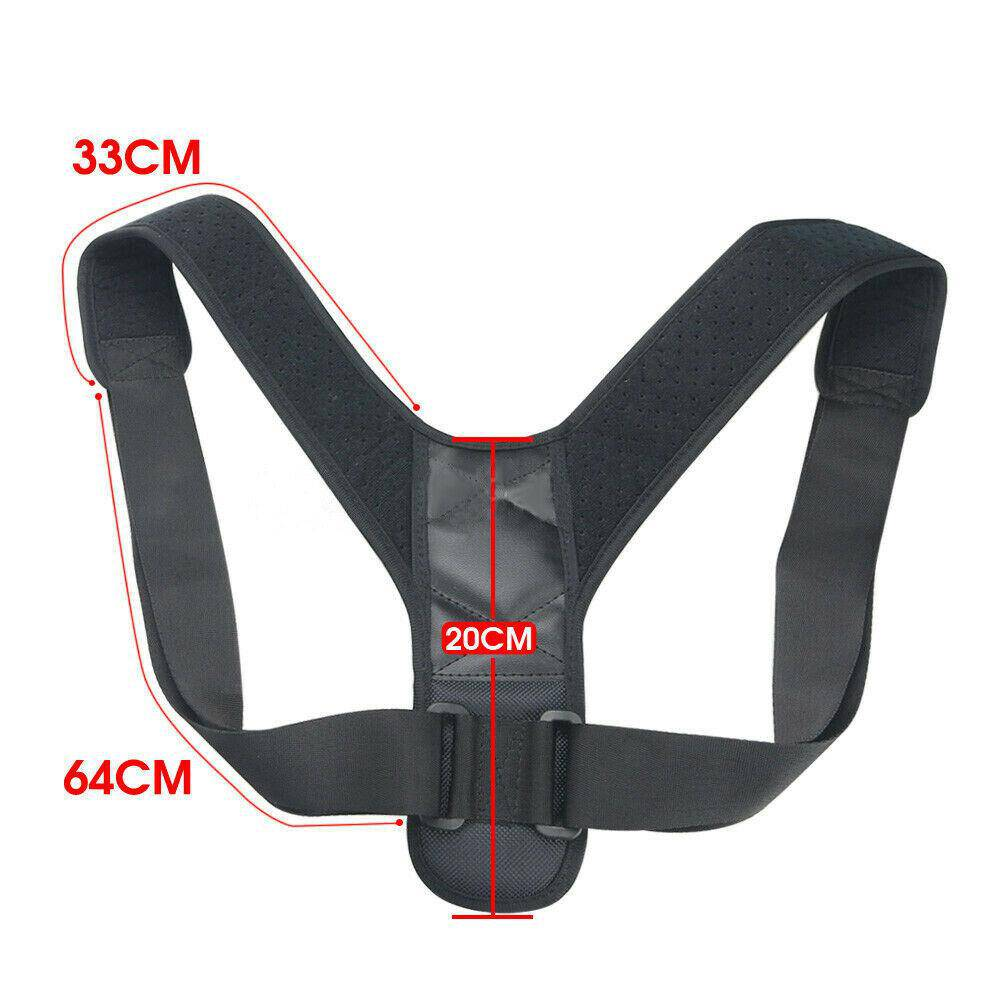 Posture Adjustable Corrector Straight Shoulder Brace Strap Support Unisex - Chaba Online Store
