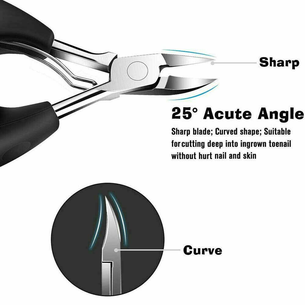 Toe Nail Cutter Clipper Nipper Chiropody Fungus Ingrown Scissors Tool - Chaba Online Store