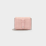 Shoulder Bag Lola in Pink Quilted Leather