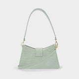 Baguette Bag in Mint Croco Pearl Leather