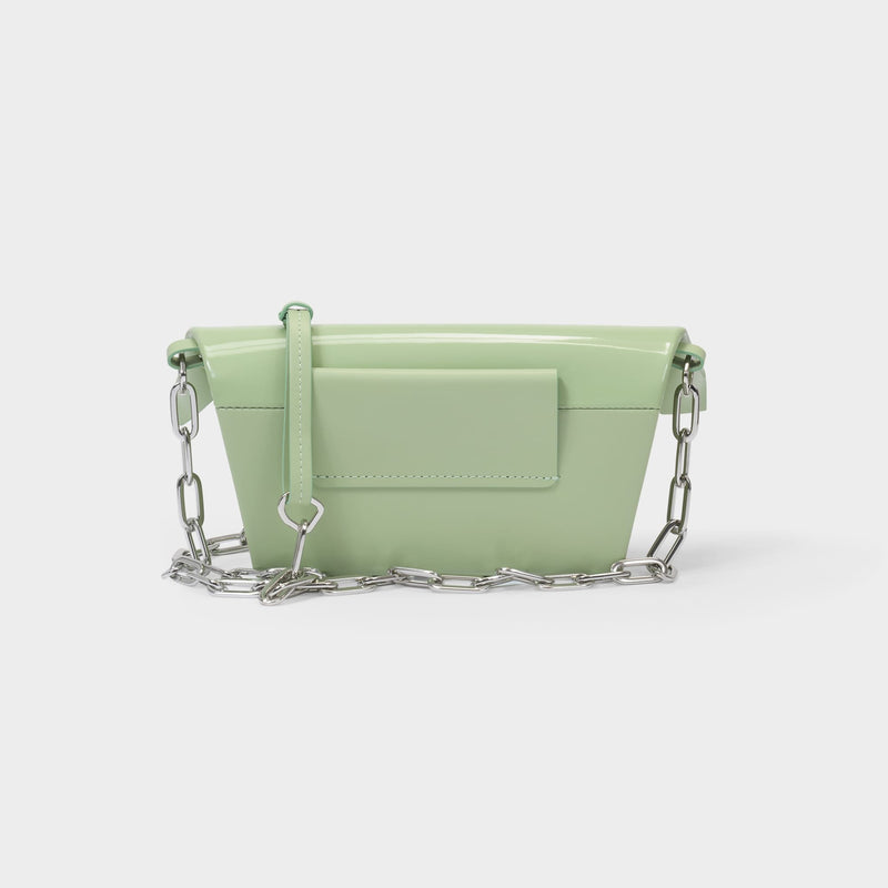 Snatched Small Handbag in Green Matcha Leather