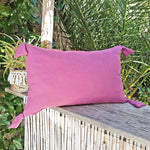 linibini - Cushion cover with pompom , triple gauze cotton, 100% cotton, www.linibini.com