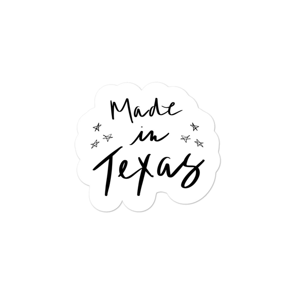 """Made In Texas"" Sticker by Baj Goodson"