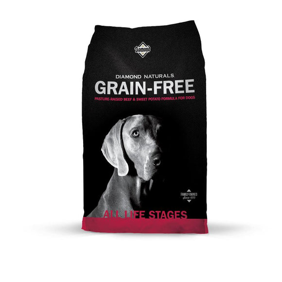 Diamond Naturals Grain Free Beef & Sweet Potato Dry Dog Food