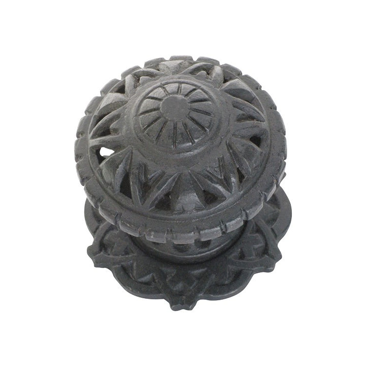 Centre Door Knob Filigree Iron Antique Finish P86mm Backplate 85mm