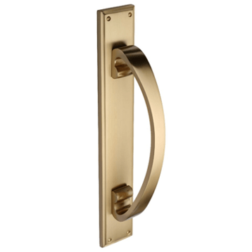 Solid Brass Pull Handle on Plate By Zanda