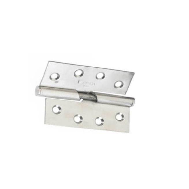 SS Rising Butt Hinge, 100 x 75 x 2.5mm By Zanda