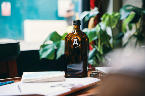 Algebra Extra Dry coffee liqueur amber glass bottle