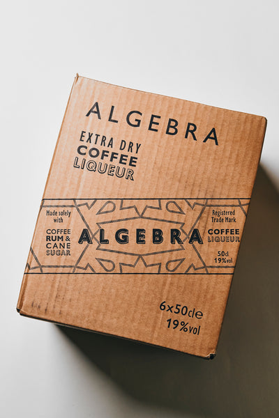 Algebra Extra Dry coffee liqueur shipping case