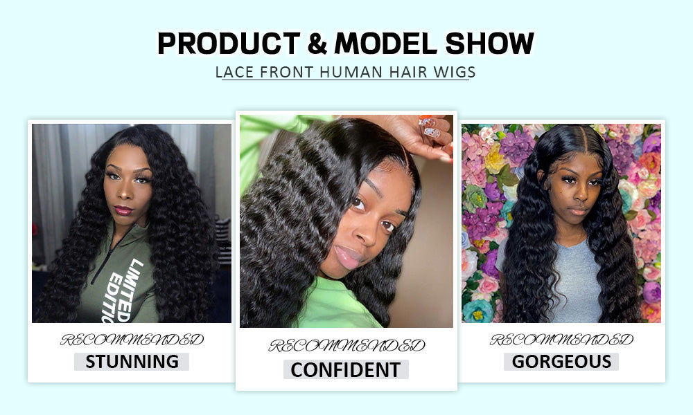 deep wave lace front wigs