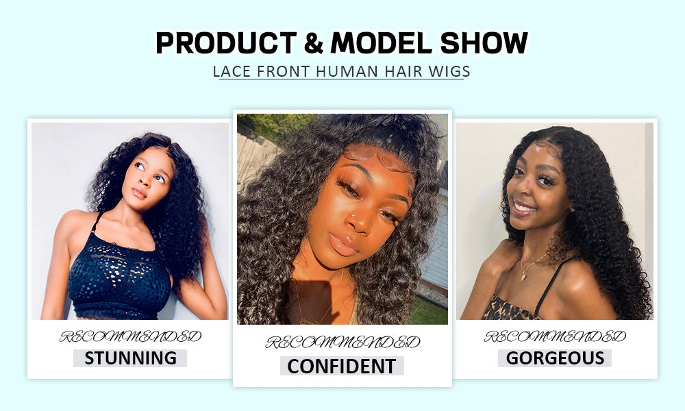 kinky curly lace front wigs