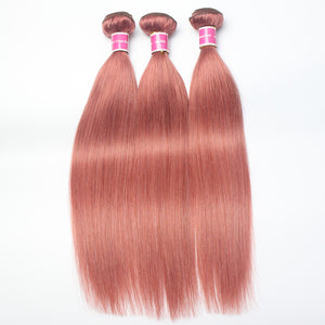 Smooth Peruvian Human Virgin Hair #35 Hair Color Straight Hair 3 Bundles Worthy For Sew In